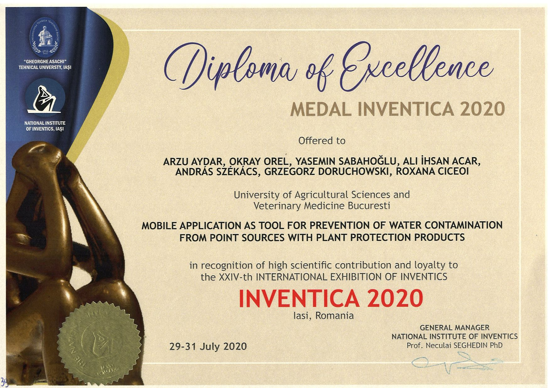 ProtectLife Diploma of Excellence